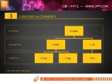 黄色精致扁平实用PPT图表整套下载