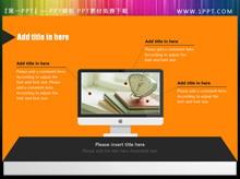 抽象电脑屏幕PPT内容呈现素材