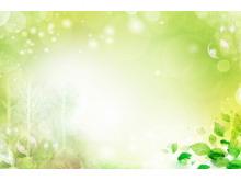 绿色光晕水彩叶子PPT背景图片