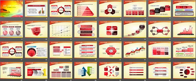 60张党政PPT模板打包下载(附带图表)
