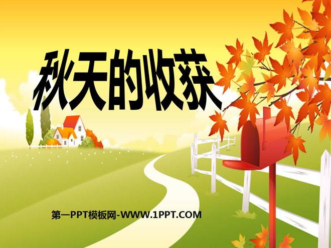 《秋天的收获》金色的秋天ppt课件4