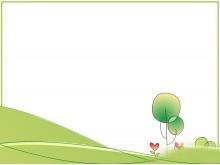 绿色卡通简洁PPT背景图片