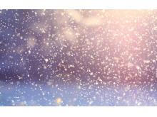 一组星空雪花自然PPT背景图片