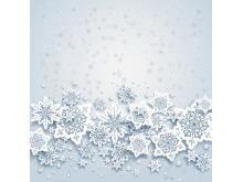 一组白色雪花艺术PPT背景图片