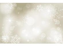 褐色星光光晕雪花PPT背景图片