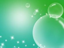 透明水泡星光水草PPT背景图片