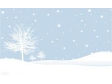 两张雪地大树雪花淡雅明升体育图片