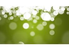 绿色光晕唯美PPT背景图片(一)