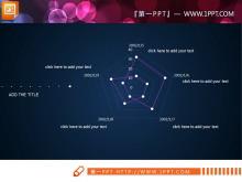 简约扁平化紫白双色PPT图表整套下载