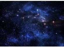 蓝色星空星辰宇宙星星PPT背景图片