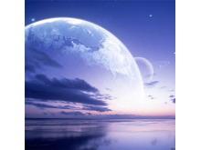 一组唯美紫色星空星球PPT背景图片(一)