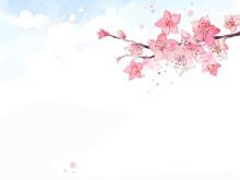 淡雅彩绘花卉PPT背景图片