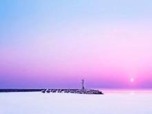 美丽的天空大海自然PPT背景图片