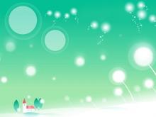 蒲公英星光抽象PPT背景图片