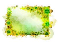 黄褐色花卉边框PPT背景图片