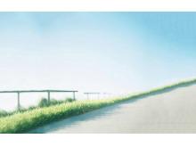 三张淡雅清新自然风景PPT背景图片