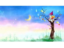 精美城堡卡通PPT背景图片