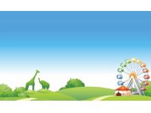 儿童乐园PPT背景图片