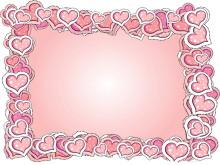 粉色心形�框PPT背景�D片