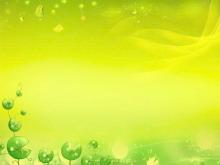 绿色卡通藤蔓PPT背景图片
