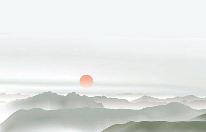 淡雅水墨中国风PPT背景图片