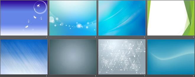 一组蓝绿灰色简洁PPT背景图片