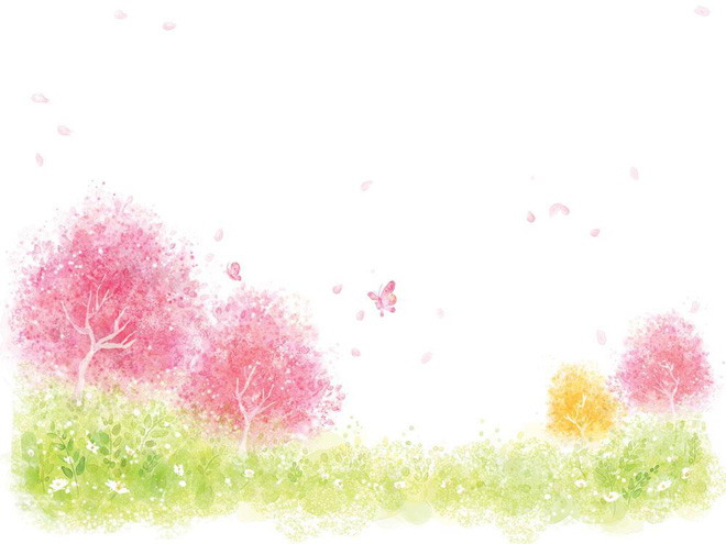 树把蝴蝶引来了;第二张ppt背景图片是淡雅的蝴蝶花;第三张ppt背景图片