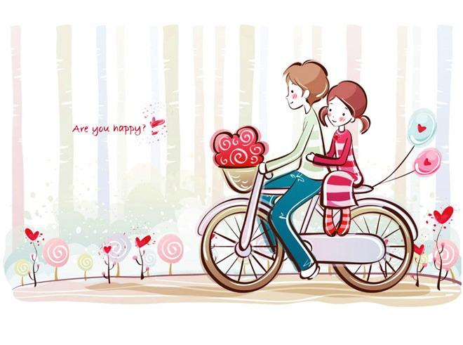 一對情侶在擁抱;第四張ppt背景圖片,男孩在樹下給漂亮的戀人彈吉他