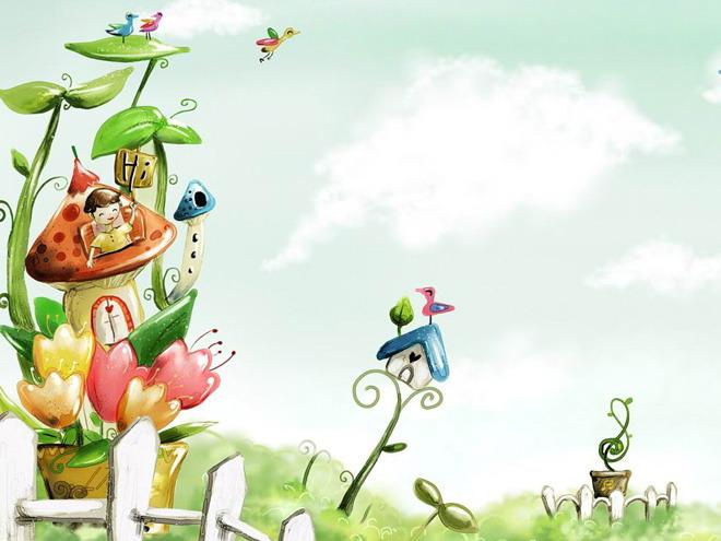 如六一儿童节ppt等; 关键词:卡通ppt背景图片,蘑菇房子ppt背景图片,.