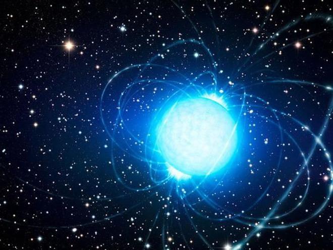 蓝色夜空宇宙星球ppt背景图片
