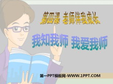 《我知我师我爱我师》老师伴我成长PPT课件3