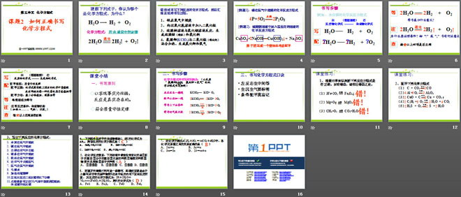 《如何正确书写化学方程式》化学方程式PPT课件7