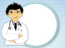 医疗卡通人物边框PPT背景图片