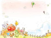 五彩彩绘卡通PPT背景图片