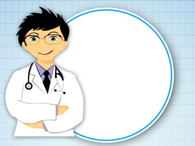 这是一张医疗卡通人物边框PPT背景图片,第一PPT模板网提供幻灯片背景图片免费下载; PPT背景图片是卡通背景图片,用抽象的方块墙面作为PPT背景,上面有一个穿着白大褂,戴着听诊器的医生,背后有一个白色背景边框;本图片适合用于制作医疗、医学、儿童卫生教育幻灯片; 关键词:卡通PPT背景图片,人物PPT背景图片,医生、边框PPT背景图片,.
