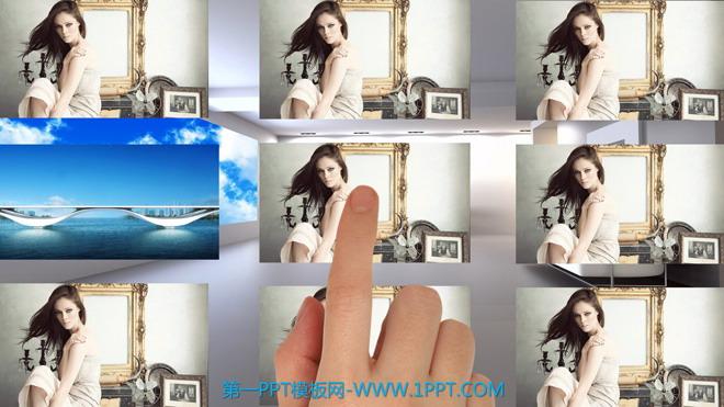 精美的触屏滑屏效果PPT动画 - 第一PPT