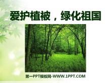 《�圩o植被,�G化祖��》PPT�n件5