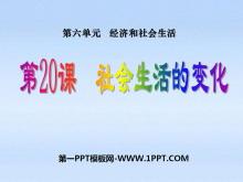 《社会生活的变化》经济和社会生活PPT课件