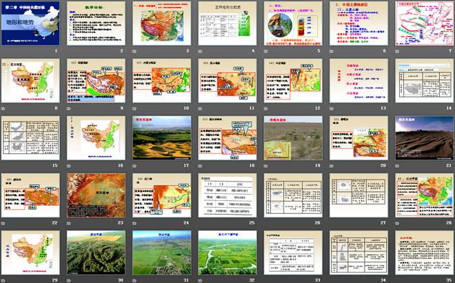 《地形和地势》中国的自然环境PPT课件