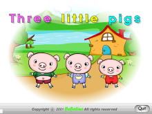 《Three little pigs》Flash动画课件