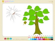 《儿童简笔画填色》Flash动画课件7