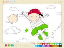 《儿童简笔画填色》Flash动画课件11