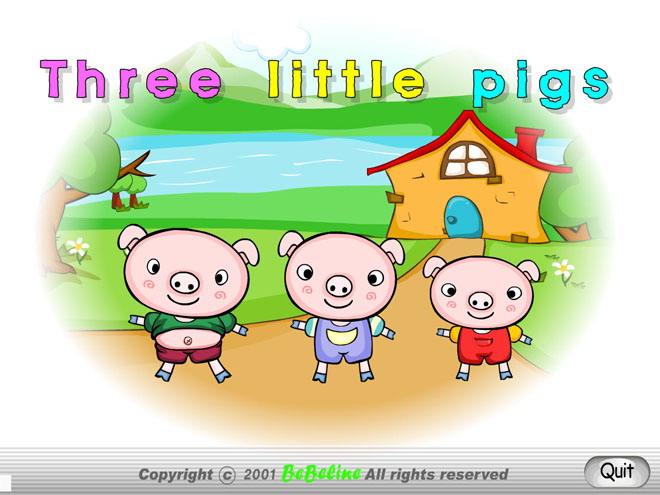 《Three little pigs》Flash动画课件
