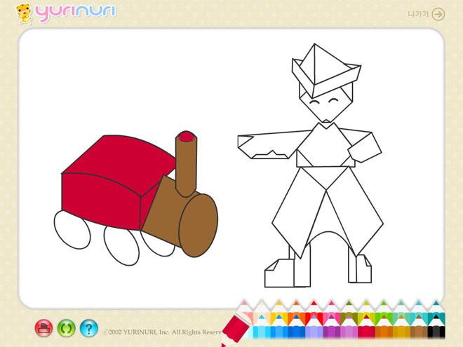 《儿童简笔画填色》flash动画课件5