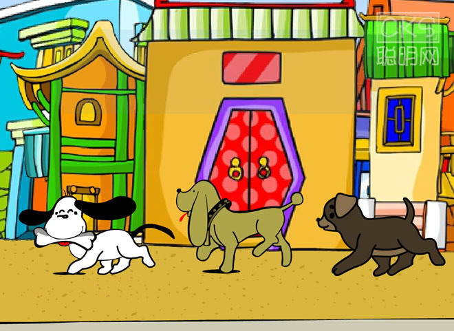 《口哨与小狗》flash动画课件