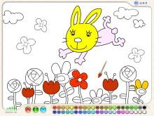 《小白兔填色》Flash动画课件