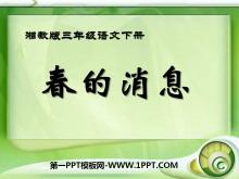 《春的消息》PPT课件8