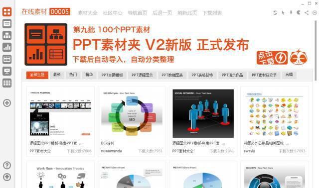 PPT制作软件:PPT素材夹