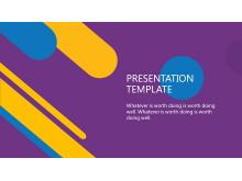 紫色时尚PowerPoint模板下载