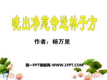 《晓出净慈寺送林子方》PPT课件7